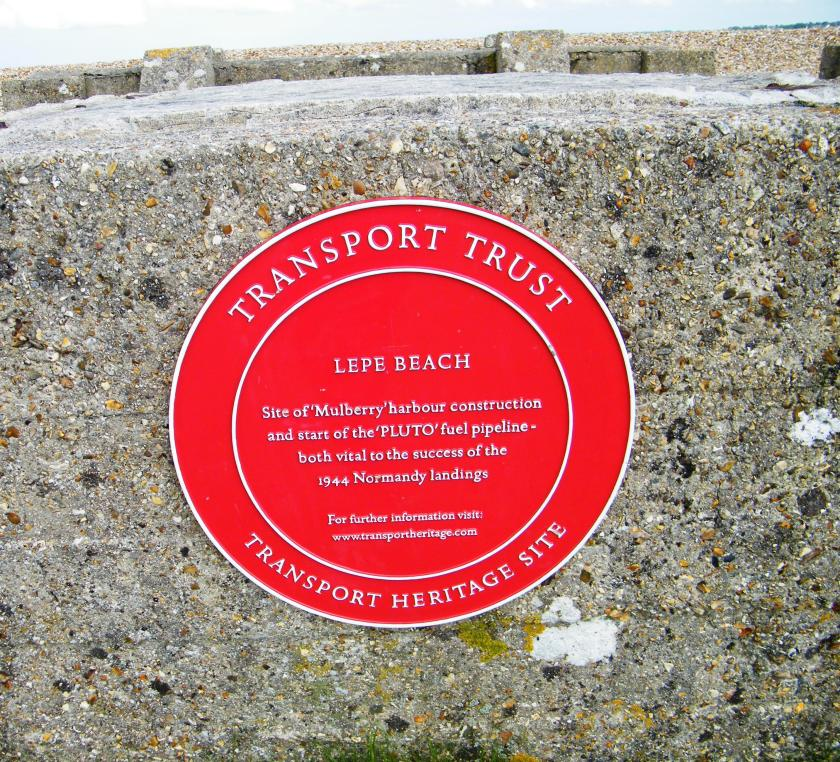 ©Come Step Back In Time. Lepe (Stone Point), Hampshire was also the site where PLUTO (Pipeline Under The Ocean also known as Pipeline Underwater Transport of Oil) began. Work on Pluto began in August, 1943.  The Shell-Mex/BP oil storage plant at Hamble was selected as the supply base for the project. Seventy miles of flexible pipe was wound onto vast drums known as Conums and then towed by two powerful tugs. The submarine pipelines pumped oil directly from the south coast to the shores of Europe and at one point reached Germany. The planning team for Pluto was based at H.M.S. Abatos which was actually the requisitioned bombed remains of the former Supermarine Spitfire Factory. Pumping stations were built at Sandown on the Isle of Wight which fed Cherbourg (four pipes) and Dungeness, Kent which fed Boulogne (sixteen pipes).