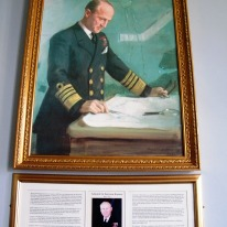 ©Come Step Back In Time. Portrait of Admiral Sir Bertram Ramsay. Southwick House (Southwick Park), Fareham, Hampshire. Defence School of Policing and Guarding (DSPG).