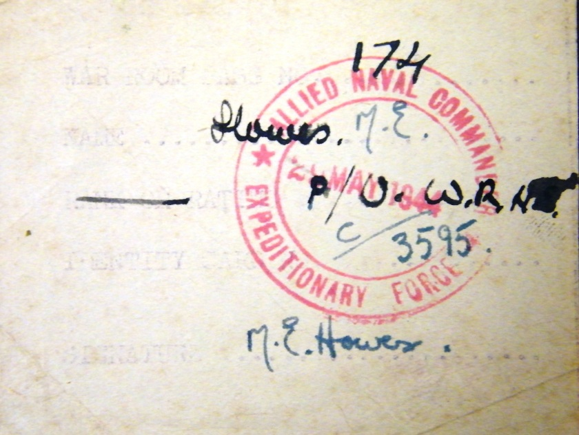 ©Come Step Back in Time. A War Room pass for Southwick House. This pass was used by Wren Petty Officer Mabel Ena Howes, who was later awarded the British Empire Medal, Military Division for her wartime service. Item is held in the D-Day Museum Archives. Index Key: PORMG 1986.23.1