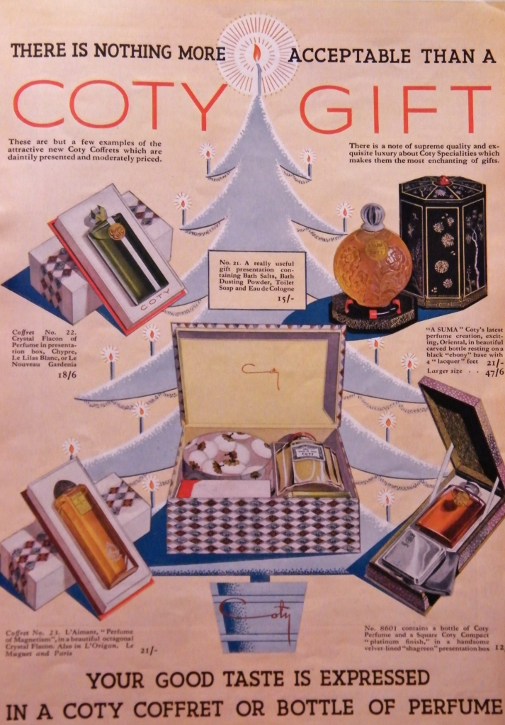 Advertisement for Coty, Christmas, 1935.