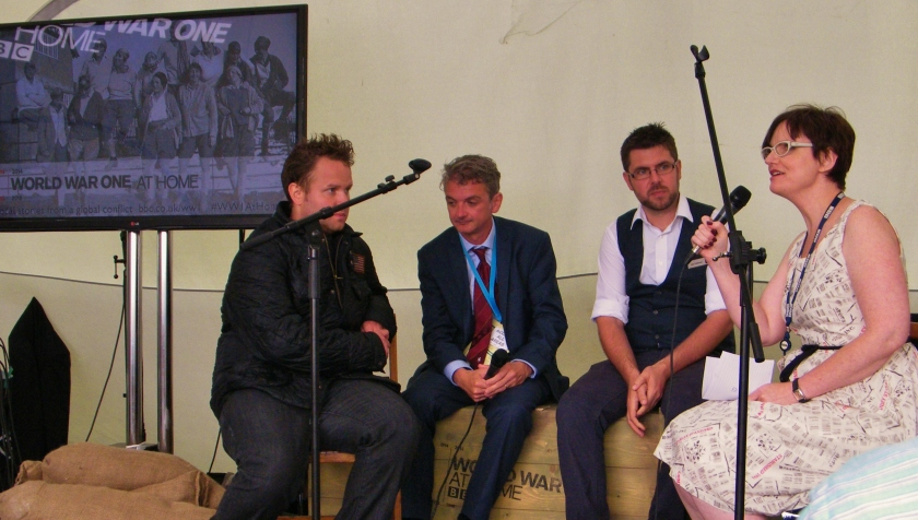 BBC live Q & A panel in Folkestone Harbour, Monday 4th August, 2014. ©Come Step Back in Time.