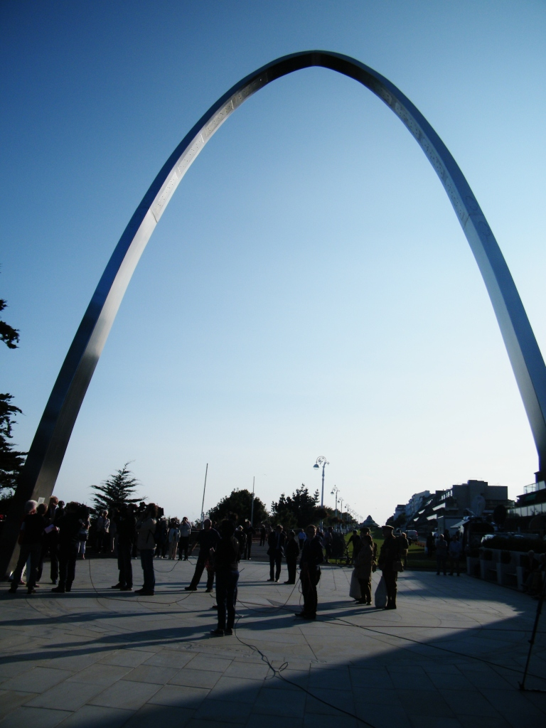 The new Memorial Arch, Folkestone. Monday 4th August, 2014. ©Come Step Back in Time.