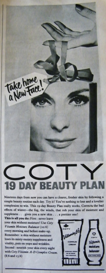 Advertisement for Coty from 1961. From my own collection.