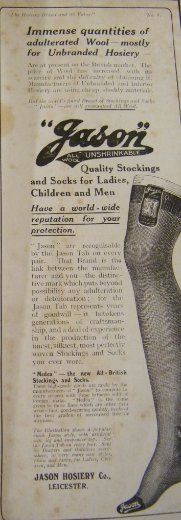 Stocking advert from 1915.