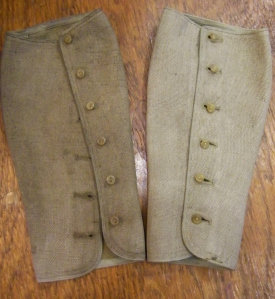 Pair of ladies' gaiters, World War One. Lucy's private collection. ©Come Step Back In Time