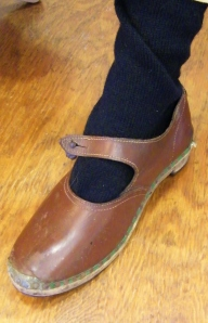 Ladies' leather work shoes. Lucy's private collection. ©Come Step Back In Time.