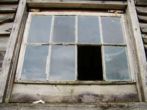Original window from World War One looking out from the stables over the fields at Ranvilles Farm, Nr Romsey. ©Come Step Back In Time.