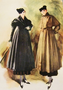 Street coats in a semi-fitting style.  Featured in Debenham & Company's 'Spring Fashions, 1916'. Catalogue from Lucy's private collection.