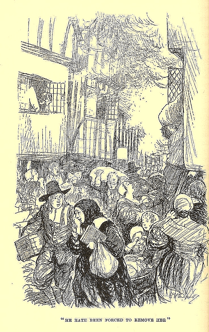 Illustration from 'Everybody's Pepys: The Diary of Samuel Pepys 1660-1669' Abridged by O. F. Morshead. (1935). Illustration is by Ernest H. Shepard.