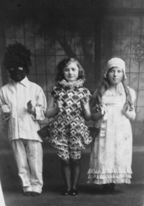 A Halloween picture from my family archive. On the right is my grandmother c.1920s. ©Come Step Back in Time