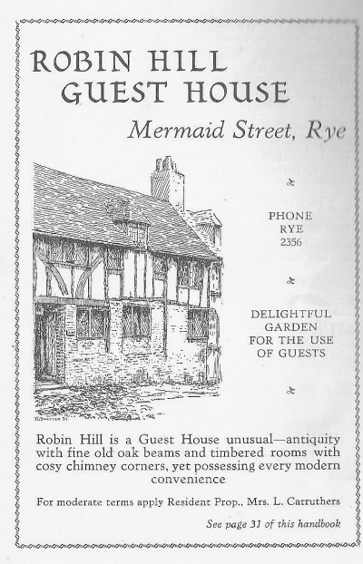 Rye & District Holiday Guide (1950).