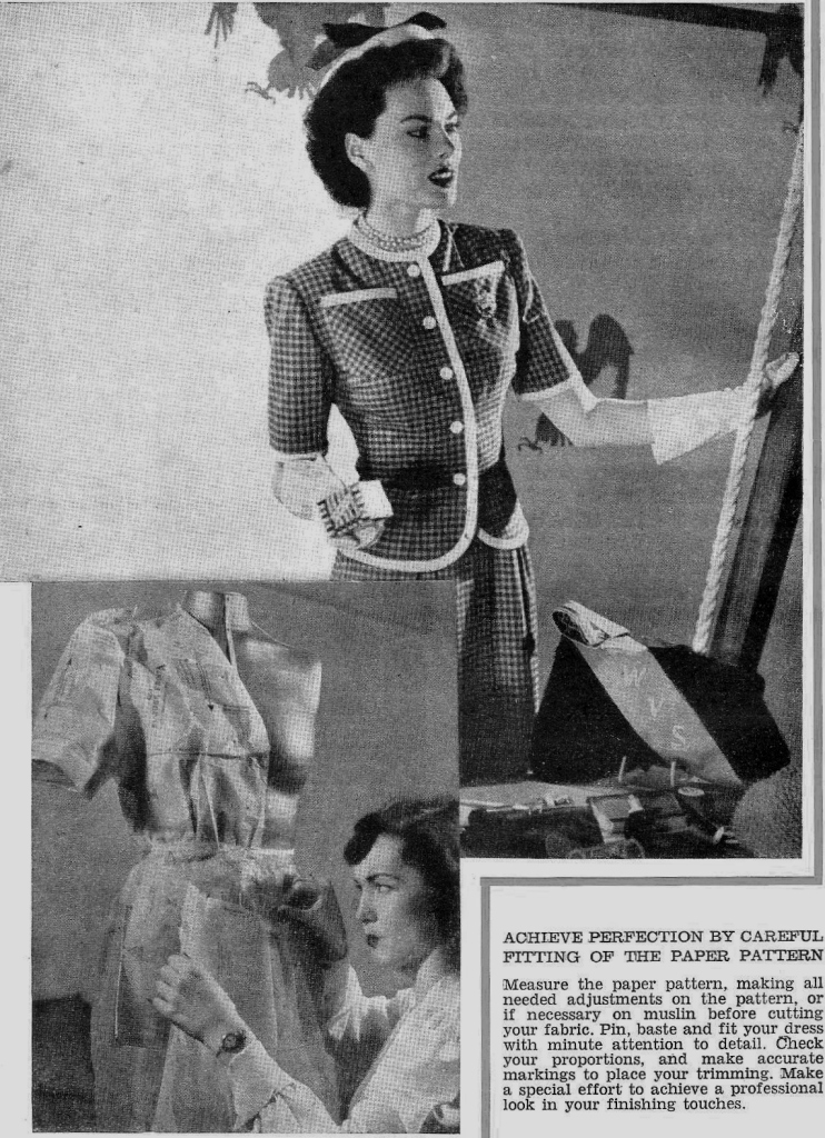 The Complete Book of Sewing by Constance Talbot (1948). ©Come Step Back in Time