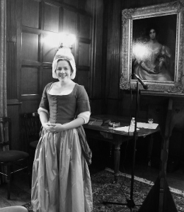 Food historian Dr Annie Gray dressed as a Georgian Housekeeper from c.1770/80. ©Come Step Back In Time