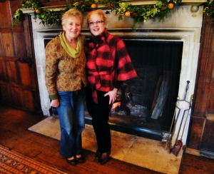 Mum and I in the Great Hall at Chawton House Library. ©Come Step Back In Time