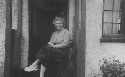 Grandmother in the porch at the bungalow in Hythe, Summer 1956. ©Come Step Back In Time