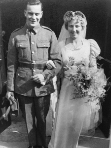On my grandparent's wedding day, 23rd March, 1940.  ©Come Step Back In Time (The Langley Family Archive)