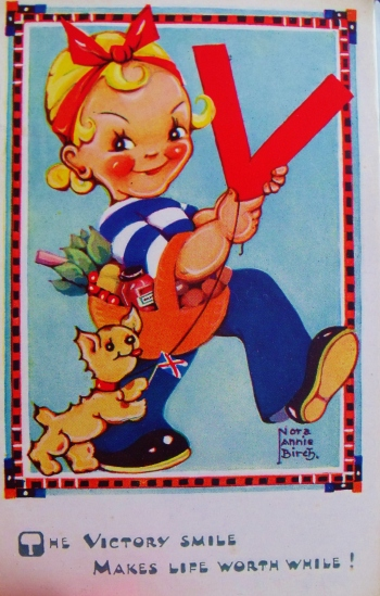 Victory souvenir postcard, 1945. Private collections. ©Come Step Back In Time