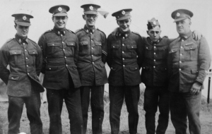 Grandfather with some of his unit in the early stages of World War Two. Location unknown but likely to be Molash, Kent, c.1941.