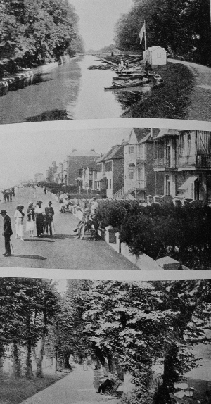 Views of Hythe from My great, great grandmother's copy of Hythe, Sandgate, Folkestone, Dymchurch, New Romney Guidebook, from 1927-8. Family collection. ©Come Step Back In Time