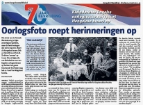 My grandfather's story featured in Hengelo's Weekblad newspaper (24.3.2015, p. 15 - www.hengelosweekblad.nl). Thanks to all the hard work by historian Eric Heijink!