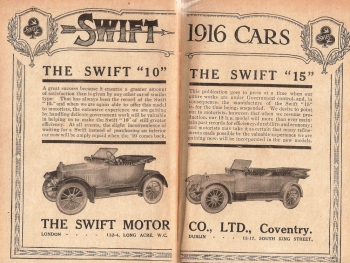 1916 Swift motorcar similar to the one great, great grandmother brought for use whilst she was in Hythe. Image from my own private collection. ©Come Step Back In Time