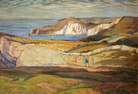 'Near Worbarrow Bay' by Leslie Moffat Ward. Image courtesy of Russell-Cotes Art Gallery and Museum, Bournemouth.