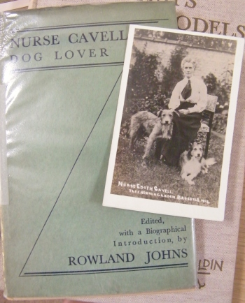 Photograph of Nurse Edith Cavell taken in her garden, Brussels, 2015. Photograph and book in the Mary Evans Picture Library Collection ©Come Step Back In Time 2015