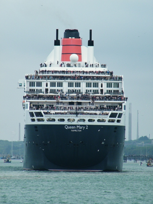 Queen Mary 2 setting sail on Sunday 3rd May, 2015. ©Come Step Back In Time