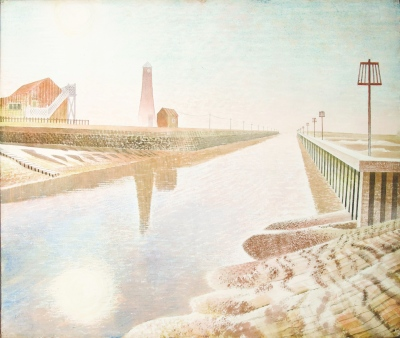 'Rye Harbour' by Eric Ravilious. (Pencil and watercolour, 1938.) On display at Shorelines exhibition. ©Lightbox - Ingram collection