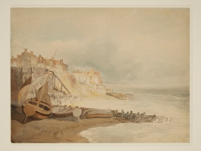 'Brighthelsmstone' by J.M.W. Turner (watercolour, c.1800-1851). Exhibited at Shorelines exhibition ©V&A 135-1878
