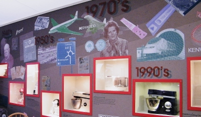 Kenwood Kitchen Icons Through The Ages mini-exhibition in The Kenwood Kitchen Theatre. ©Come Step Back In Time