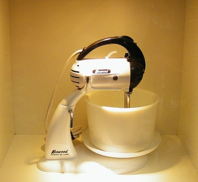 A305 Kenwood Minor Hand Mixer (1960s) on display in The Kenwood Kitchen Theatre. ©Come Step Back In Time