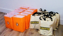 Such generous goodie bags provided for us by Penguin Books UK (@PenguinUkBooks). Image copyright - Come Step Back In Time.