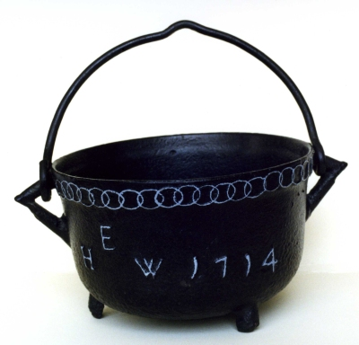 Cooking pot from the Coalbrookdale Museum of Iron, Ironbridge, Shropshire. Image by courtesy of Ironbridge Gorge Museum Trust