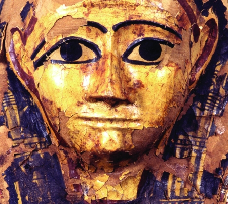 Coffin mask that will feature in new exhibition, 'Out of Egypt' at St. Barbe Museum, Lymington, Hampshire. Image credit - Hampshire Cultural Trust.
