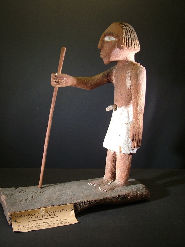 Overseer figure from the 6th Dynasty which will be on display at Out of Egypt exhibition at St. Barbe Museum, Lymington, Hampshire. Image credit - Bournemouth Natural Science Society.