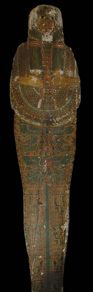 Out of Egypt - Mummy board, 22nd Dynasty credit Bournemouth Natural Science Society