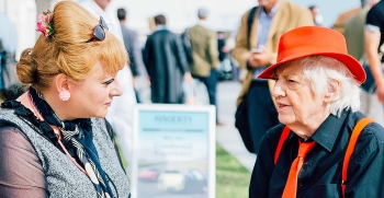 Gloria and I at Goodwood Revival 2015. ©Scott Chalmers