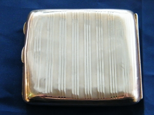 R. J. Mitchell's cigarette case which he had with him whilst watching Spitfire's first test flight on 5th March, 1936. Artefact is not normally on display to the public at Solent Sky Museum so was very privileged to see and handle it. ©Come Step Back In Time