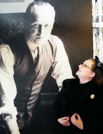 Me in conversation with R. J. MItchell at Solent Sky Museum. ©Come Step Back In Time
